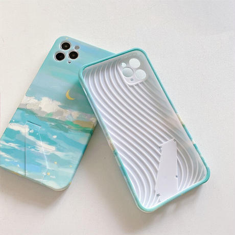 Winter sea stand iphone case