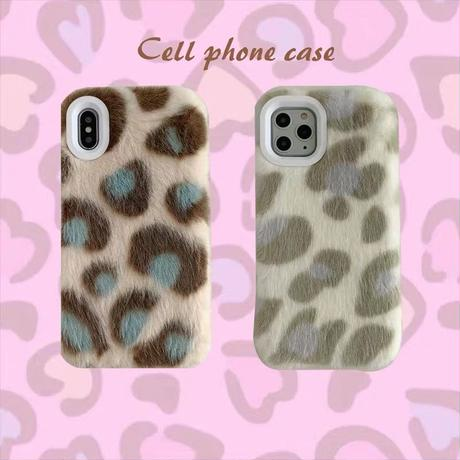 Autumn leopard fur iphone case