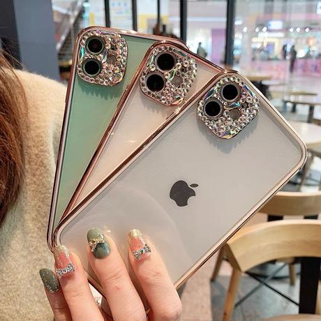 Jewel gold side iphone case