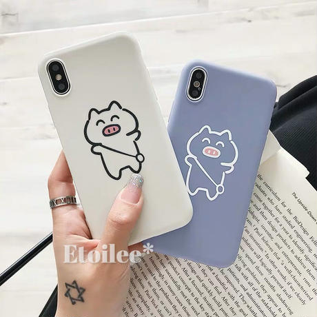 Pig blue ivory iphone case