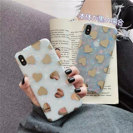 Big gold heart shell iphone case