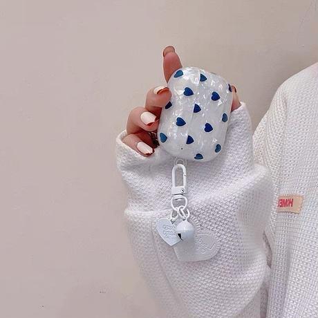 Heart dot shell airpods case