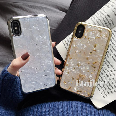 Silver gold marble iphone case