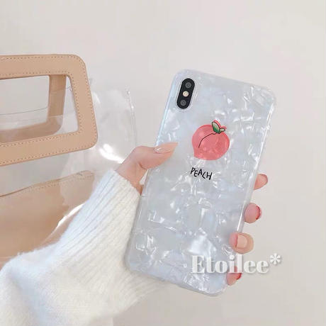 One peach shell iphone case
