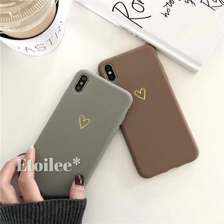 Heart brown grey iphone case