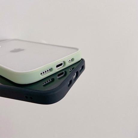 Spring green black color side iphone case