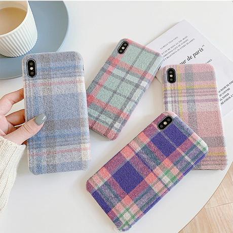 Autumn check iphone case
