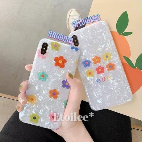 Color flower shell iphone case