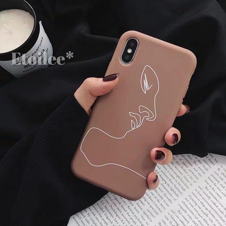 White face line iphone case