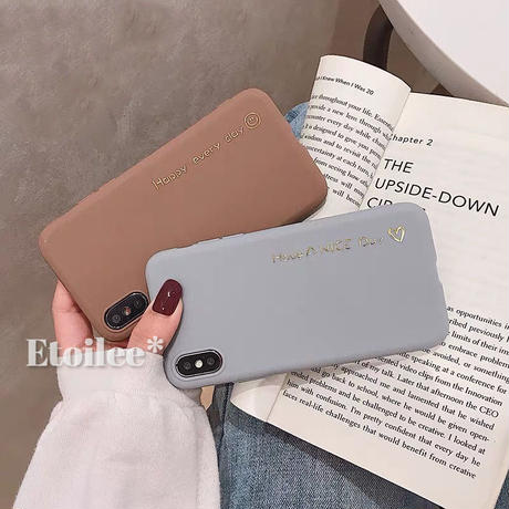 Happy day brown grey iphone case
