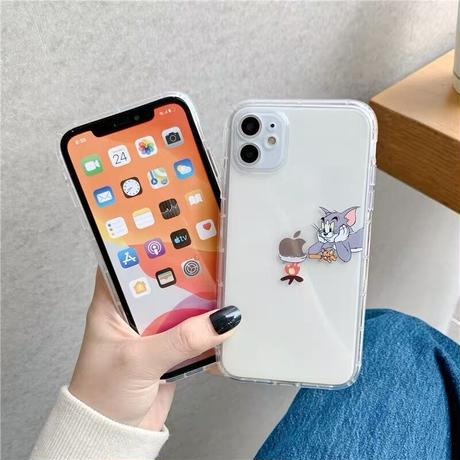 Mouse cat bubble cook clear iphone case
