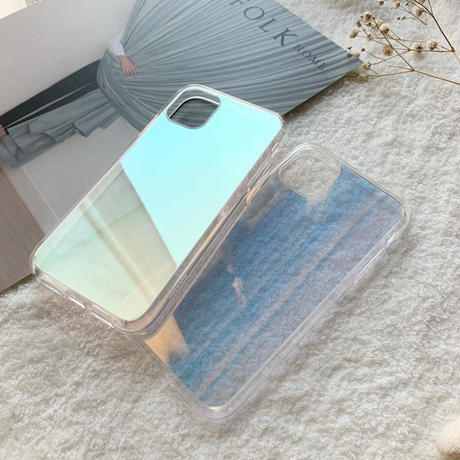Half mirror clear case