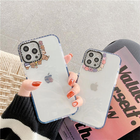 Animal line clear iphone case