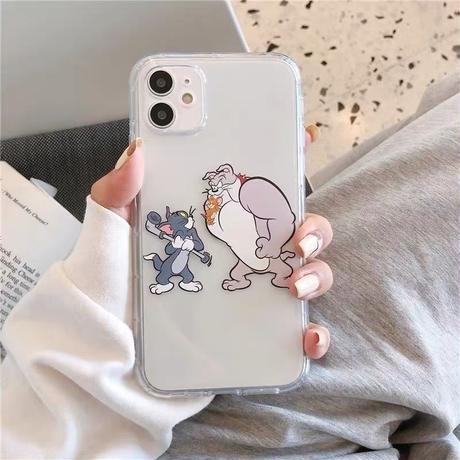 Mouse cat dog clear iphone case