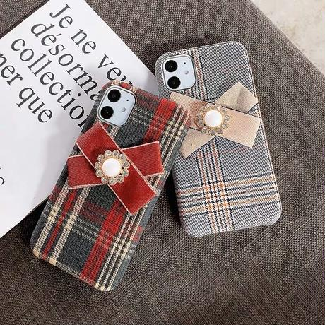 Grid ribbon iphone case