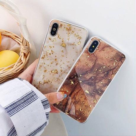 Gold glitter marble iphone case