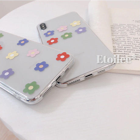 Color flower clear iphone case