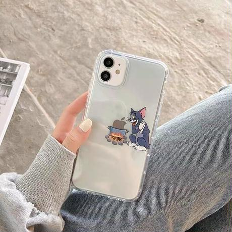 Mouse cat cooking clear iphone case