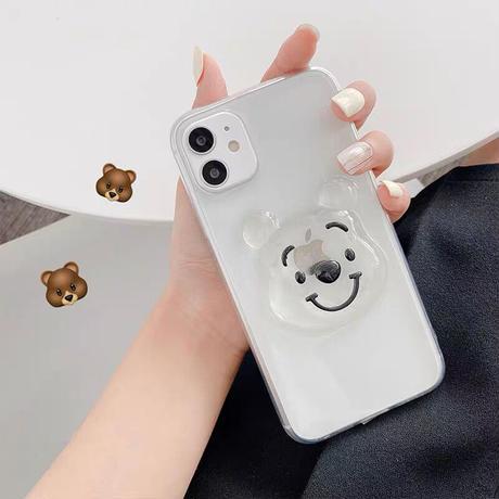 Big bear glitter iphone case