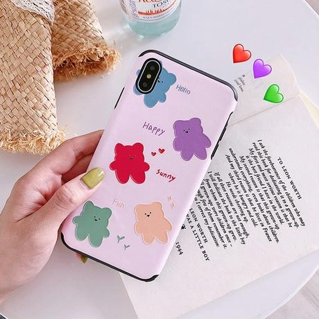 Pink bear iphone case