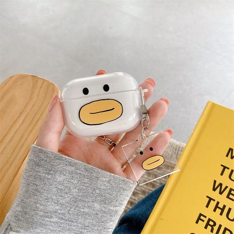 Duck face clear airpods case