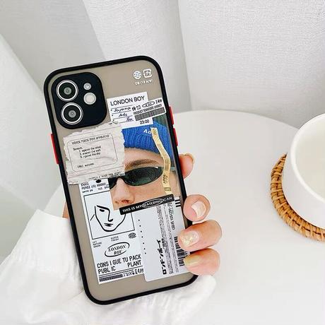 Boy girl scrap black side iphone case