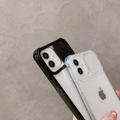 Clear black camera hole iphone case