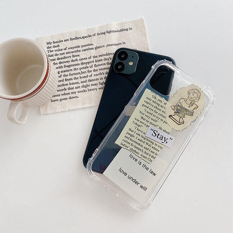 Letters printing clear iphone case