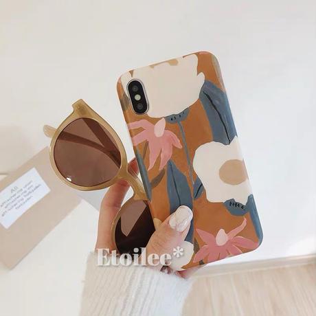 Brown flower iphone case