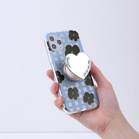 [tipitipo] Check floral clear case (Red, Blue)