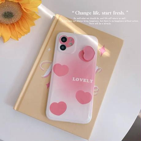 Lovely heart iphone case