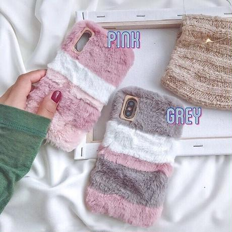 Fluffy fur iphone case