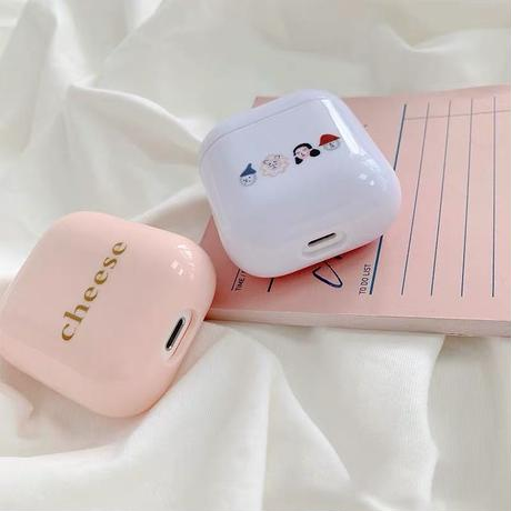 Pink white  airpods case