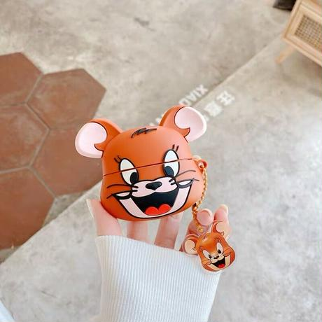 Mouse cat face airpods case