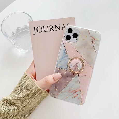 Pink navy marble with grip iphone case