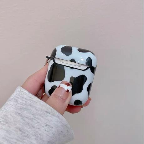 Cow pattern strap airpods case