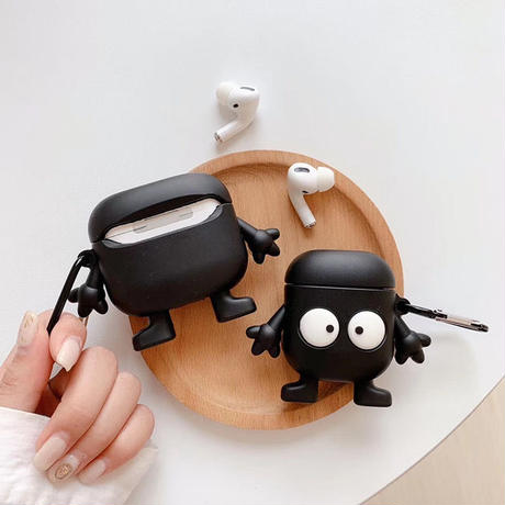 Black monster with legs airpods case
