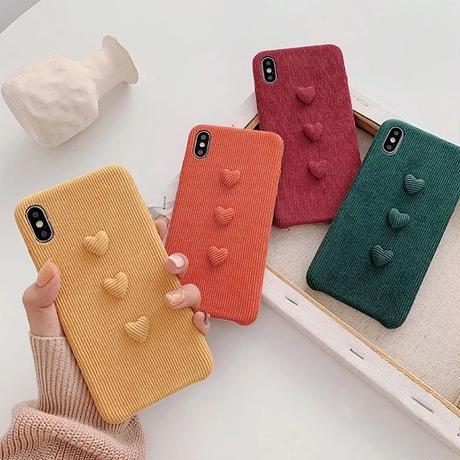 Heart corduroy iphone case
