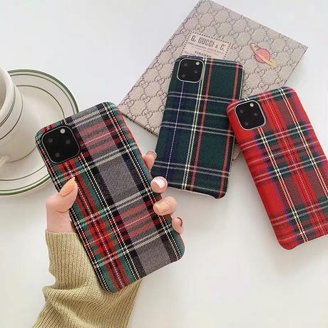 Tartan check fabric  iphone case
