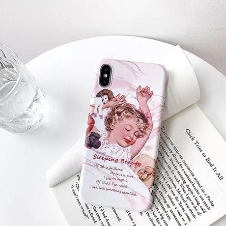 Boy girl blue pink iphone case