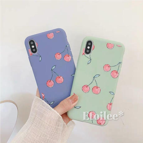 Cherry green blue iphone case