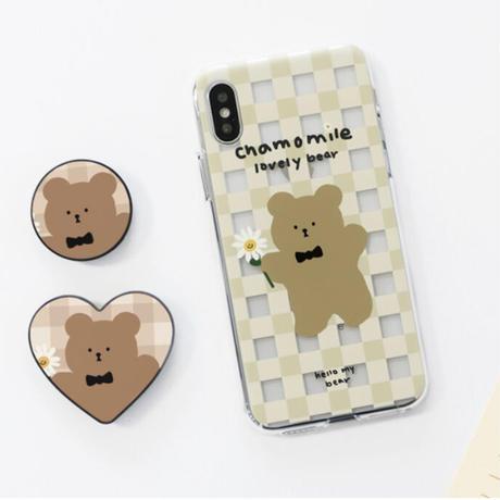Chamomile bear hard/clear case 594