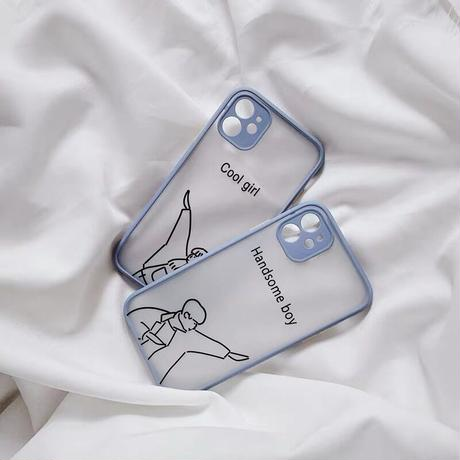 Handsome boy cool girl color side iphone case