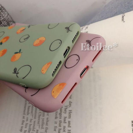 Orange pink green iphone case
