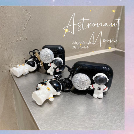 Astronaut moon airpods case