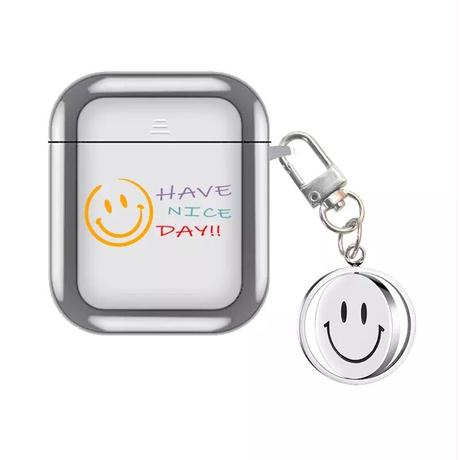 Have nice day silver airpods case