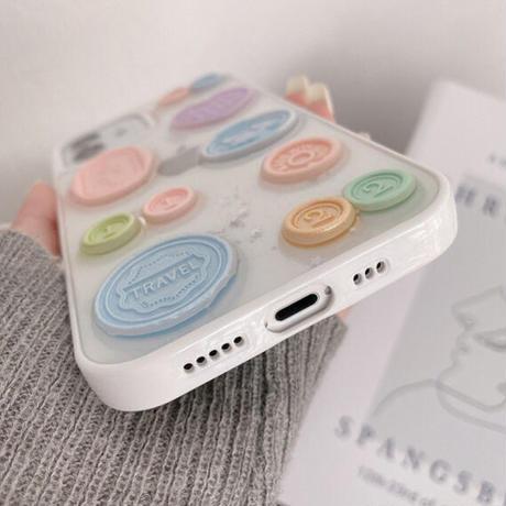 Pastel stamp iphone case