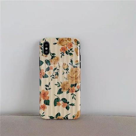 Yellow flower suitcase pattern iphone case