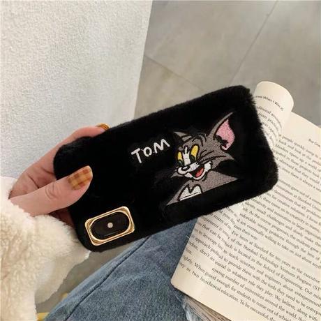 Mouse cat pink black fur iphone case