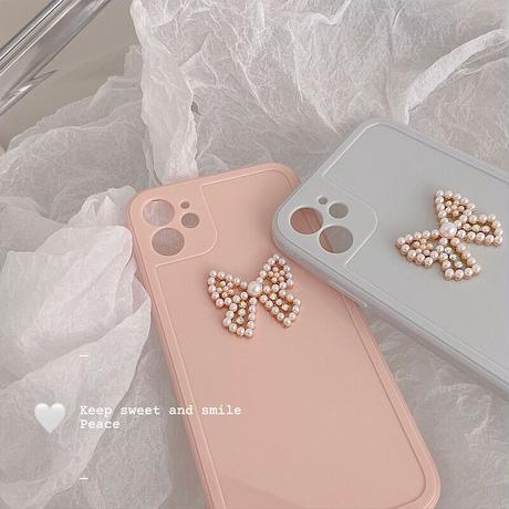 Ribbon pearl iphone case